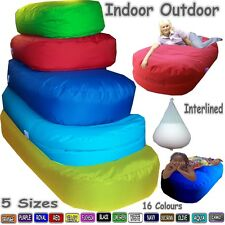 Indoor Outdoor Bean Bed Sofa Bean Bags Lounger Beanbag 5 Sizes Interlined Filled