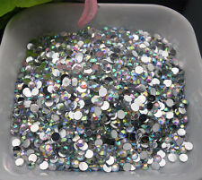 Nail art Multiple facets clear AB crystal Resin 2/3/4/5/6mm Flat Back Rhinestone