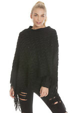 Stunning Womens Poncho Wrap With Sequin Detail - Various Colours