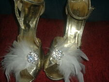 Many Colors Wedding, Bridal FEATHER SHOE CLIPS with Diamante Crystals