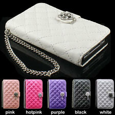 luxury Wallet Crystal cute Diamond Leather Case Cover skin For Apple iphone 5 5G