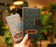 For Apple iPhone 5 Cute Leather Skin Case Cover Card Wallet- Antique Mood