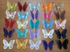50 3D PEARLESCENT SHIMMER Butterfly Wedding Table Confetti Topper MANY COLOURS