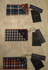 """LUXUARY TED BAKER POCKET SQUARES, 100% GENUINE,12X12"""" WITH TAGS,IN CELOPHANE BAG"""