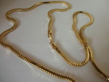 14K Yellow Gold Gep 4 MM Square Snake Chain 30 or 36 Inch Lifetime guarantee