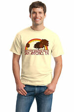 ANOTHER BEAUTIFUL DAY IN SAN ANTONIO, TX Retro Adult Unisex T-shirt. Texas City