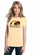 ANOTHER BEAUTIFUL DAY IN ROCKFORD, IL Retro Adult Ladies' T-shirt. Illinois Cit