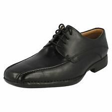 MENS CLARKS BLACK LEATHER LACE UP FORMAL SMART OFFICE SHOES FRANCIS AIR FIT G