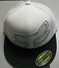 Fox Racing Double Time 210 Fitted Hat  white with black brim