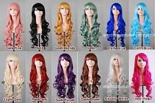 "32"" 80cm Long Hair Heat Resistant Spiral Curly Cosplay Wig 8 Colors"