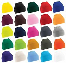 Beechfield Beanie Turn Up Knitted Hat in Soft Touch Acrylic  25 Colours  FREE PP