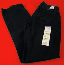 Womens Wrangler Q Baby Mid Rise Boot Cut Black Magic Stretch Jeans Any Size