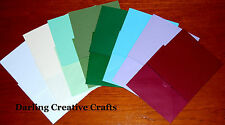 10 x 135mm SQUARE CARD BLANKS & 10 x 140MM SQ ENVELOPES - AVAILABLE IN 8 COLOURS