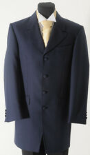 MJ-36. Boys Navy Blue Herringbone Prince Edward jacket - wedding/dress/evening