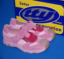 TTY Ervin Girls Pink Leather Shoes Various Sizes BNIB