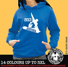 Ski & Snowboard Austria Any Resort Hoody, Hoodie, Ski Holiday Hooded Sweat (998)