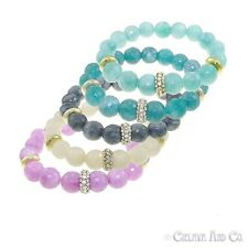 Natural Semi-Precious Gemstone Bead Stretch Bracelet Women's Fashion Jewelry