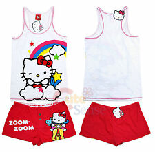 Hello kitty SleepWear Rainbow Tank Top and Red Pants 2pc PJ Set Woman (S to XL)