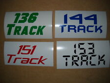 Snowmobile Long Track Tunnel Extension Decal Kit 136 144 151 153 Length 1 Pair
