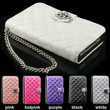 luxury bling Diamond wallet PU Leather Case Cover skin For SAMSUNG Galaxy S3