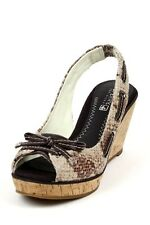 Women's Sperry Top Sider Southport Brown Python Wedge Bow leopard NEW Nautical