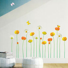 Pink Flower Wall Sticker Floral Removable Vinyl Home Decor Decals Bedroom Living
