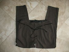 """NWT JOE'S JEANS """"The Pant"""" Pleated Front Skinny Leg Stretch Pants With Rope Belt"""