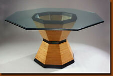 "Octagon Shape Glass Table Tops up to 24"". Colors: Clear,Bronze,Grey,Acid Etched"