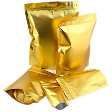 "coffee nut packing gold zip lock bags stand up foil 3X5""/4x7"" 25-100PCS"