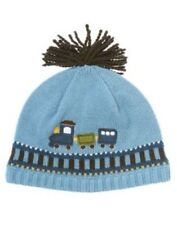 GYMBOREE CHOO CHOO BABY BLUE TRAIN POM SWEATER BEANIE HAT 0 3 6 12 18 24 NWT