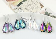 925 Sterling Silver Teardrop Earrings made with Swarovski Crystals