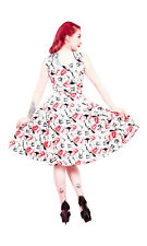 40's 50's Vintage Style Lily  Blossom Party Prom Bridesmaid Tea Dress New 8-18