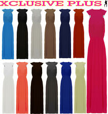 NEW LADIES SEXY STEEL RING FRONT SUMMER MAXI DRESS JERSEY KNIT BOHO MAXI 8-18