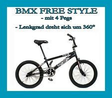 BMX FAHRRAD FREE STYLE RAD Mit 4 PEGS 360 ROTOR DIRT BIKE 20 ZOLL MADE IN EUROPA