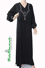 TrueUmmah- Blu Diamond Black Abaya with Free Matching Hijab