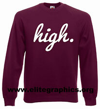 HIGH DOPE WEED CREW NECK SWEATSHIRT GEEK JUMPER TOP SWAG OBEY MAN SWEATER SHOP N
