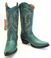 Women's leather fashion  cowboy western boots cowgirl rodeo  biker snip toe