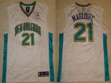 NWT Jamaal Magloire #21 New Orleans Hornets Reebok Replica Mens Home Jersey