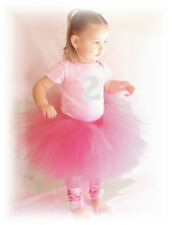 2 2nd First Birthday Girl Tutu Dress Fairy OutFit PINK