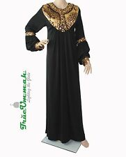 TrueUmmah- Animal Print Black Abaya with Free Matching Hijab