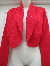 Red Sequin Sweater Jacket / Vest Size Medium Large *NWT* Derek Heart