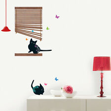Cat Wall Stickers 7 Different Decorative Home Decor Mural Decals for Kids Rooms