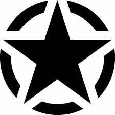 JEEP Willys CJ TJ Wrangler US Army Decal Sticker Call Of Duty Star Color Size