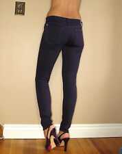 $168 Seven 7 For All Mankind Skinny Slim Illusion Blackberry Dark Purpl Jeans 31