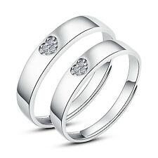 Fashion His Hers Rings Couples Promise Rings Ajustable Open Ring set SI. Diamond