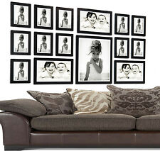 Large 15 Piece Multi Picture/Photo Frames Stand Hang Wall Mounted