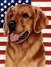Golden Retriever (Red): House Flags and Garden Flags. Two Designs and Two Sizes