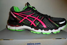 Asics Women's GEL Kayano 19 Black/Electric Pink/Apple Running Shoes