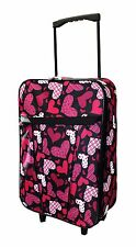 Small 55X35X20cm Wheeled Suitcase Hand Luggage Carry On Onboard Travel Case New