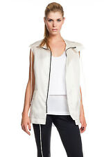 Robert Rodriguez Sleeveless Hooded In Ivory 100% Silk New with Tags Retail $395